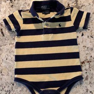 Polo Ralph Lauren onesie/dress T. Navy/yellow